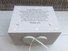 Shabby Personalised Chic Bridesmaid Maid Of Honour Wedding Keepsake Gift Box - 252731967680